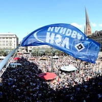 10,000 fans celebrate in Hamburg