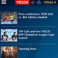 VELUX EHF FINAL4 goes mobile