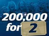 Der 200.000 Facebook-Like gewinnt zwei Karten