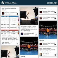 ehfFINAL4.com launches social wall