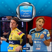 Schmid and Omoregie take November's EHF Players of the Month awards