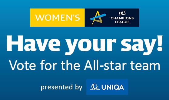 Women's EHF Champions League All-star team vote starts